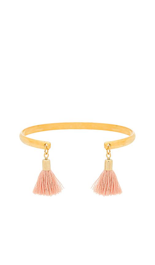 Five and Two Indigo Bracelet in Metallic Gold