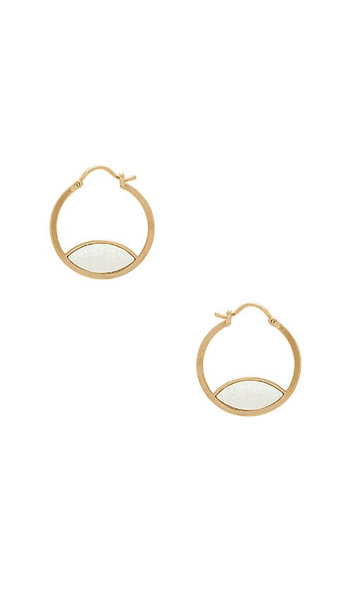 Five and Two Cara Earrings in Metallic Gold