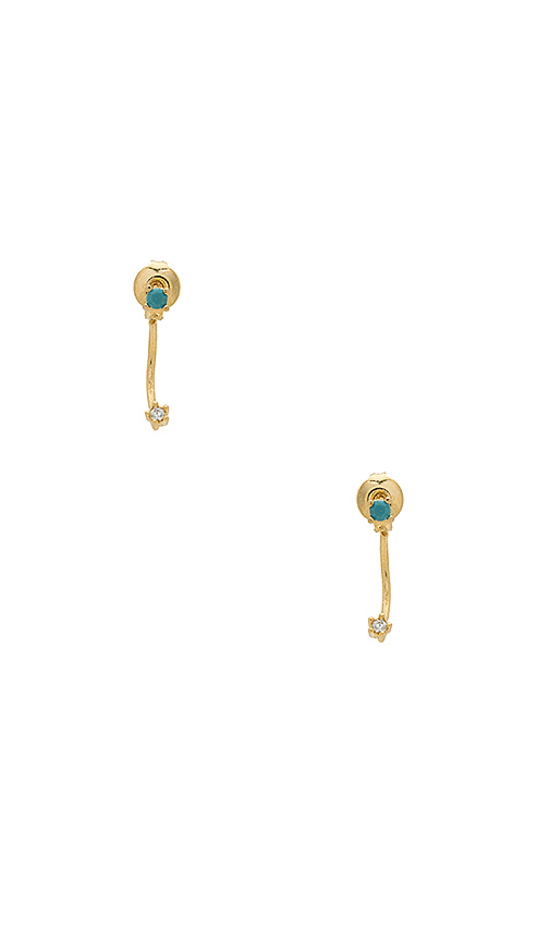 Five and Two Zoe Earring in Metallic Gold
