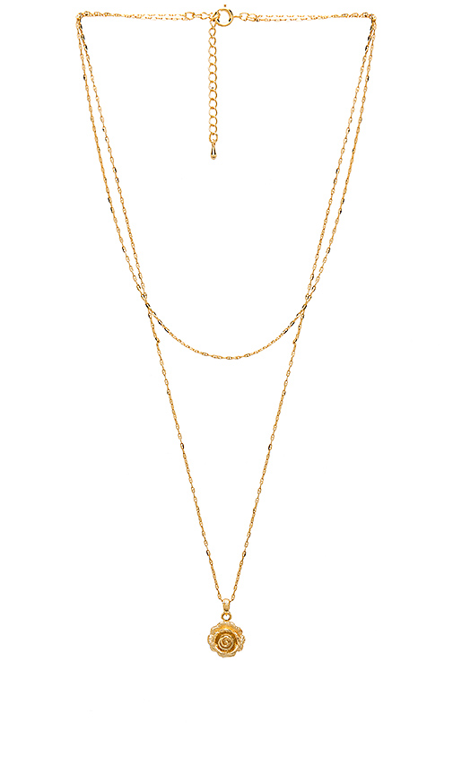 Five and Two Carmen Necklace in Metallic Gold