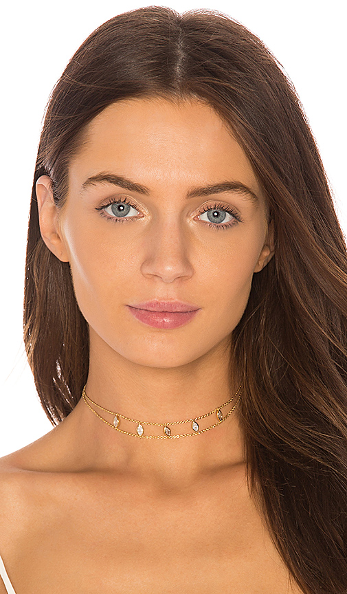 Five and Two Joie Choker in Metallic Gold
