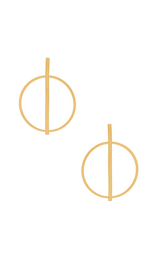 Five and Two Raine Earrings in Metallic Gold