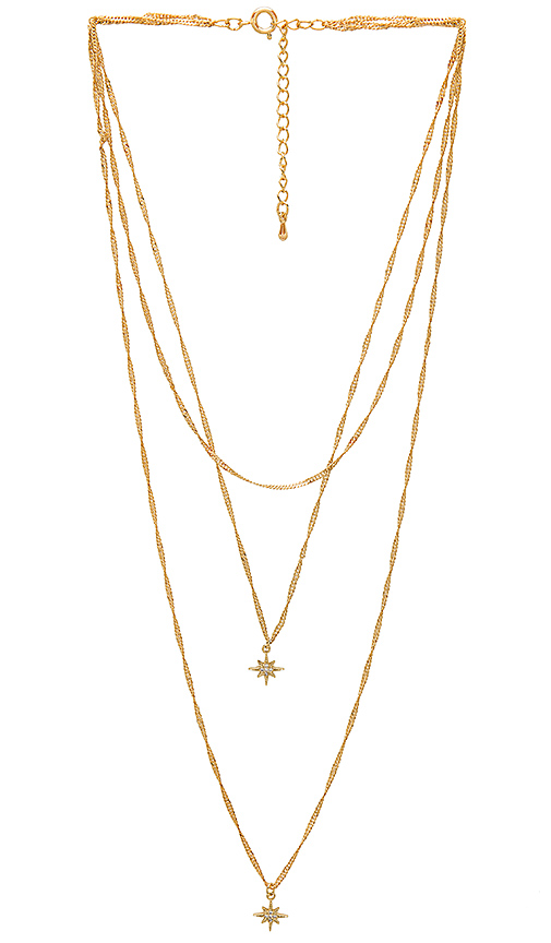 Five and Two Yolanda Necklace in Metallic Gold