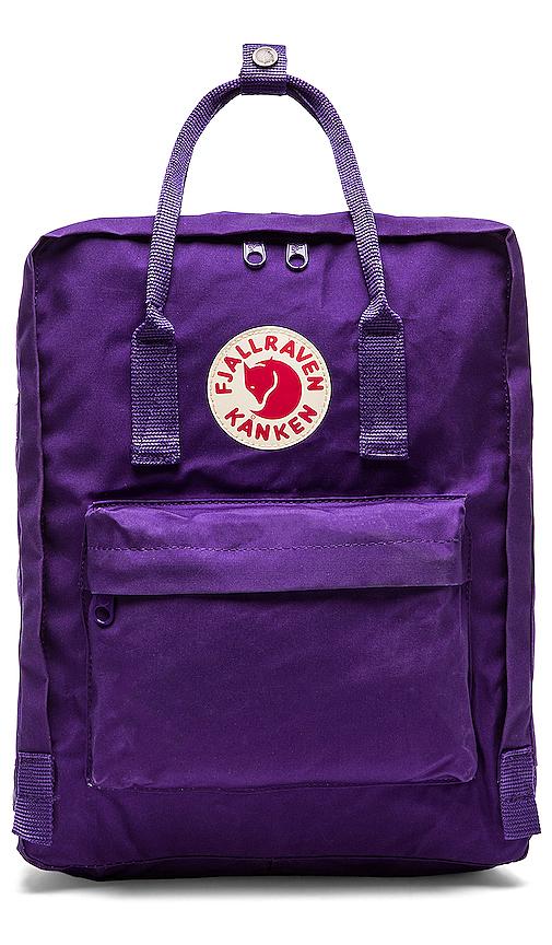 Fjallraven Kanken in Purple.