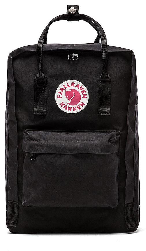 Fjallraven Kanken 15 Laptop Pack in Black.