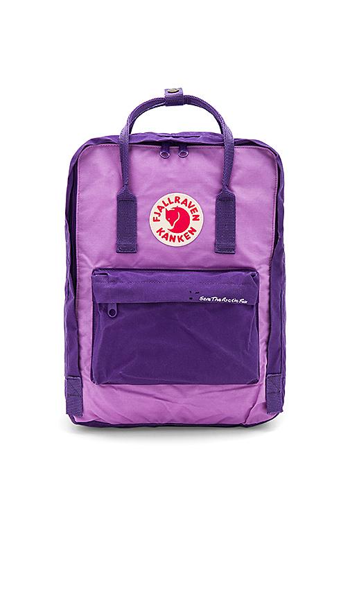 Fjallraven Save The Arctic Fox Kanken in Purple.