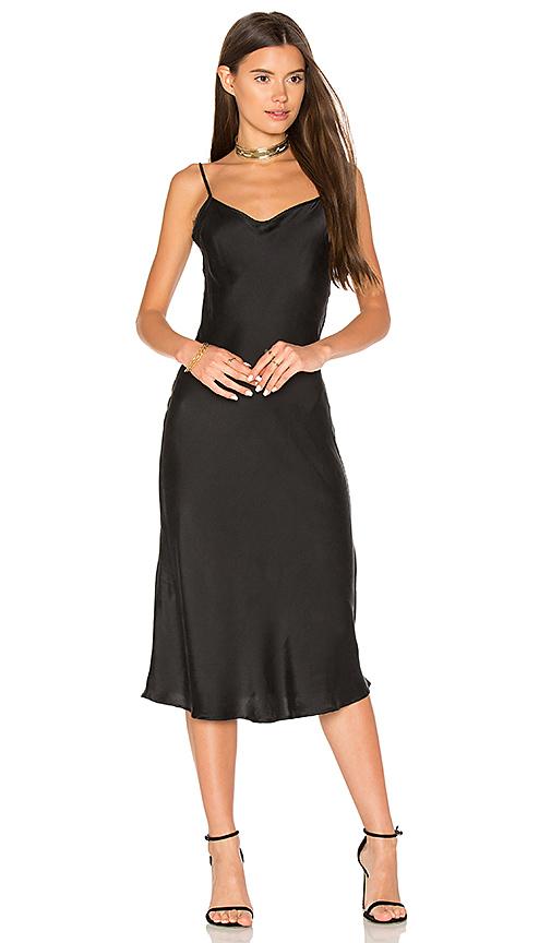 Flannel Australia Essential Slip Dress in Black