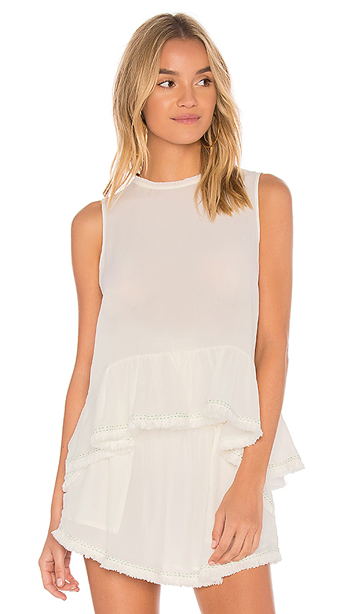 Flannel Australia Don't Think Twice Sleeveless Top in Ivory