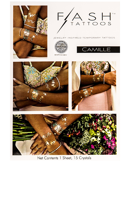 FLASH Tattoos Camille Tattoo in Metallic Gold