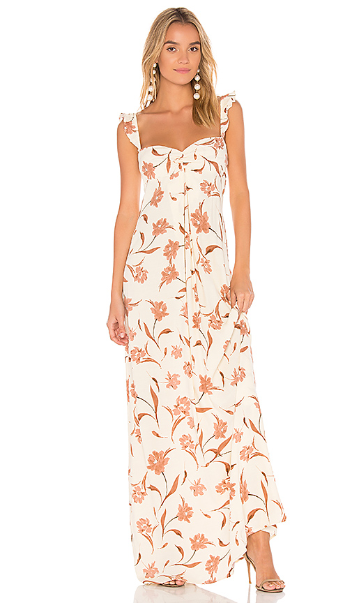 FLYNN SKYE Carla Maxi Dress in Cream