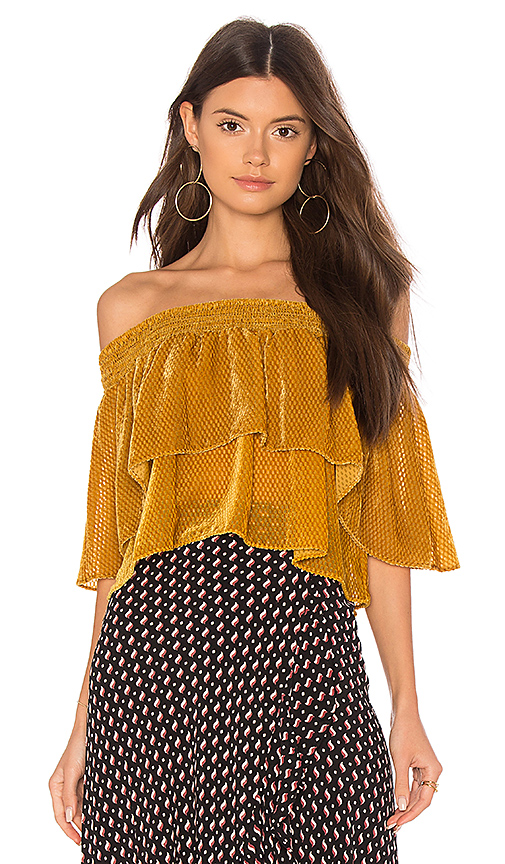FLYNN SKYE Athens Top in Mustard. - size XS (also in L,M,S)