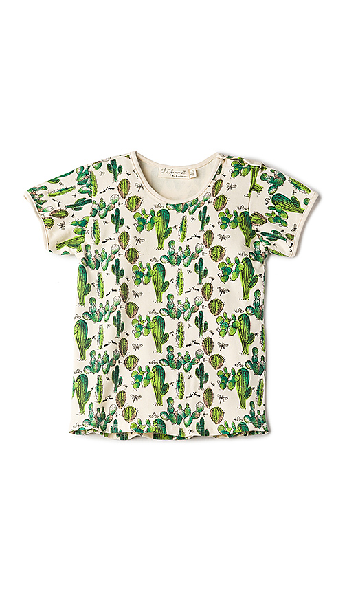 For Love & Lemons Lil Cacti Knit Shirt in Cream. - size 2T (also in 3T,4T,6)