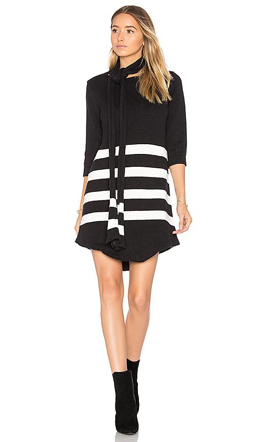 For Love & Lemons Clemence Tunic Dress in Black & White