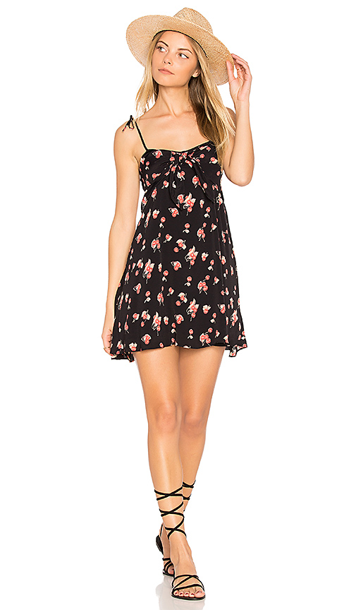 For Love & Lemons Cherry Tank Dress in Black