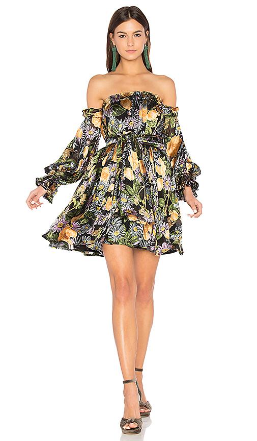 For Love & Lemons Luciana Strapless Dress in Black