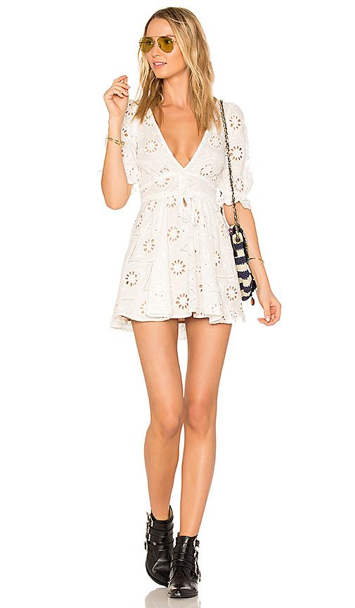 For Love & Lemons X REVOLVE Eyelet Dress in White