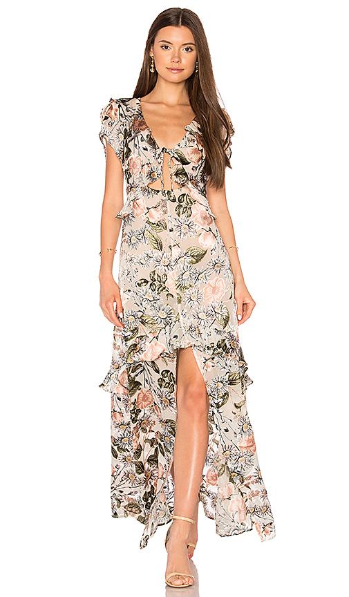 For Love & Lemons Luciana Maxi Dress in Blush