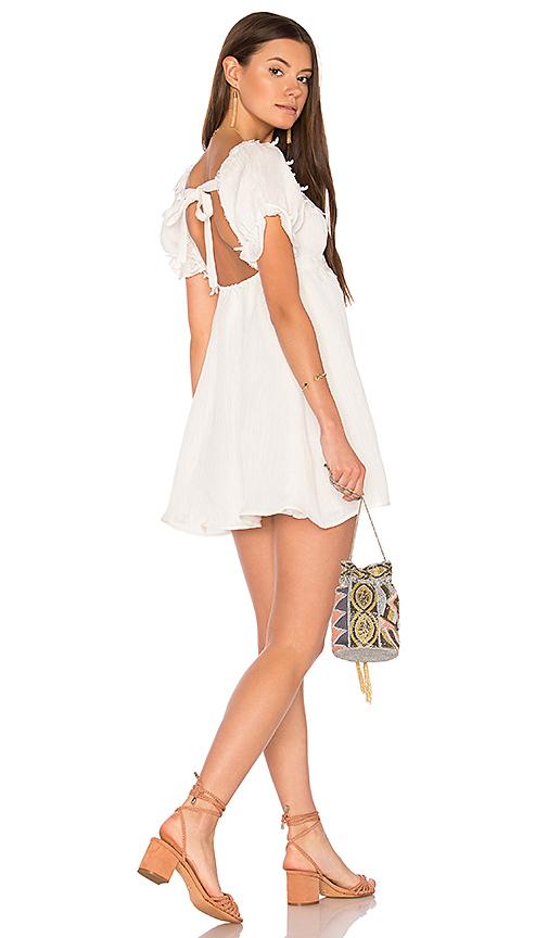 For Love & Lemons Crema Babydoll Dress in White