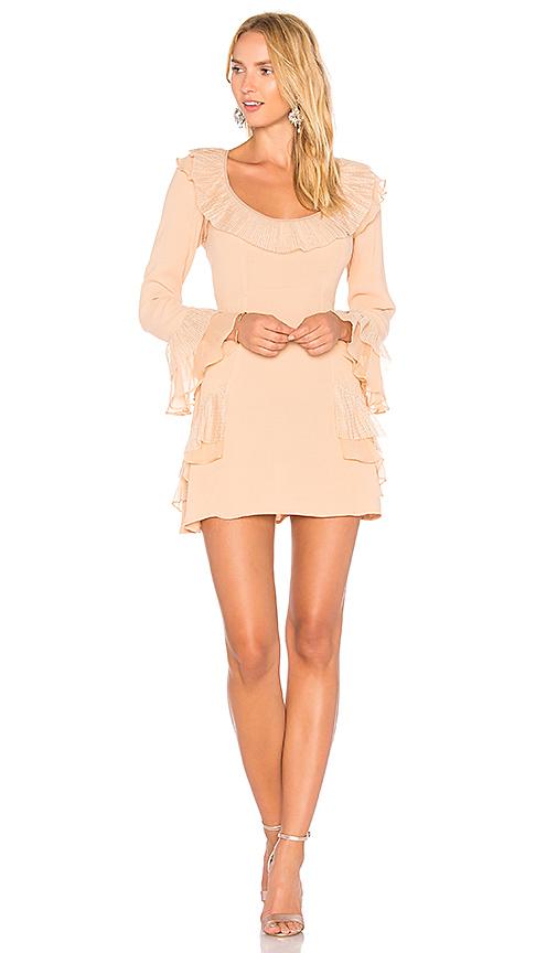 Photo of For Love & Lemons Evie Mini Dress in Peach - shop For Love & Lemons dresses sales