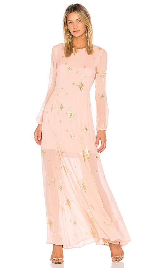 Photo of For Love & Lemons Gilded Star Maxi Dress in Pink - shop For Love & Lemons dresses sales