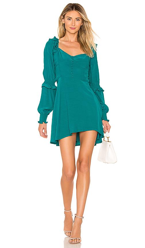 For Love & Lemons X REVOLVE Sweetheart Dress in Turquoise. Size XS,M,L.