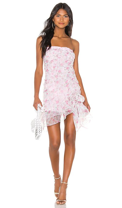 29a45d6d30 For Love & Lemons X Revolve Strapless Mini Dress In Pink & White Floral