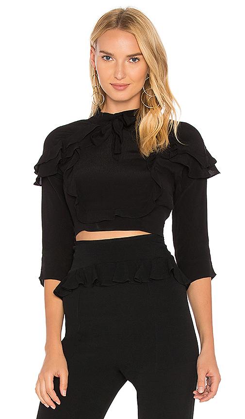 Photo of For Love & Lemons Poppy Top in Black - shop For Love & Lemons tops sales