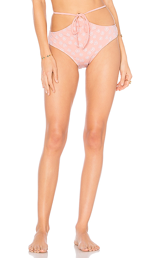 For Love & Lemons Jardine Waist Tie Bottom in Pink