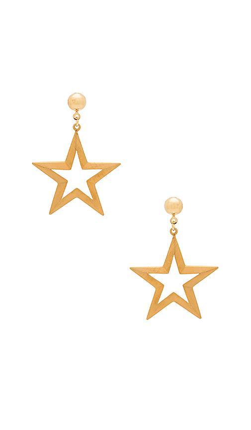 Frasier Sterling Moonlight Earrings in Metallic Gold