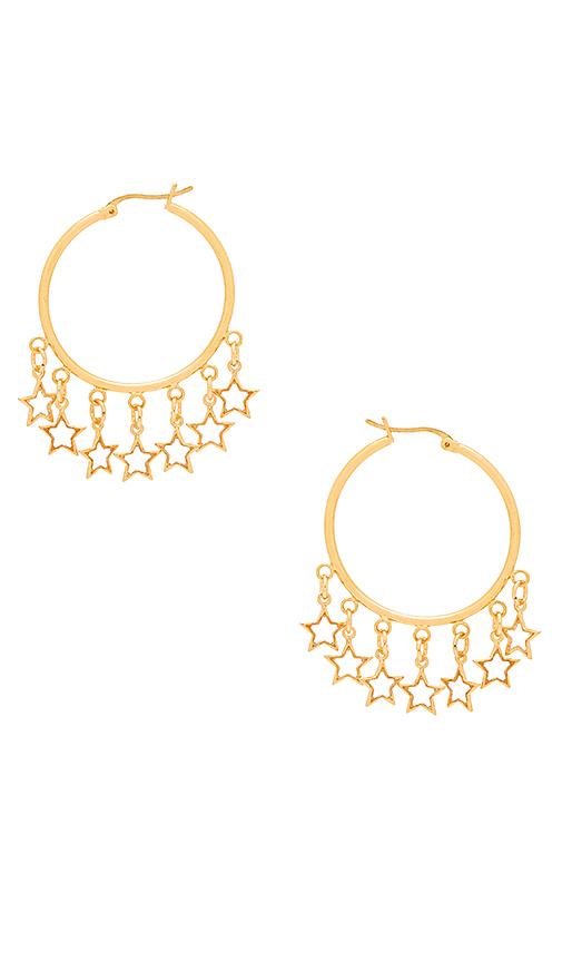 Frasier Sterling Cabana Earrings in Metallic Gold