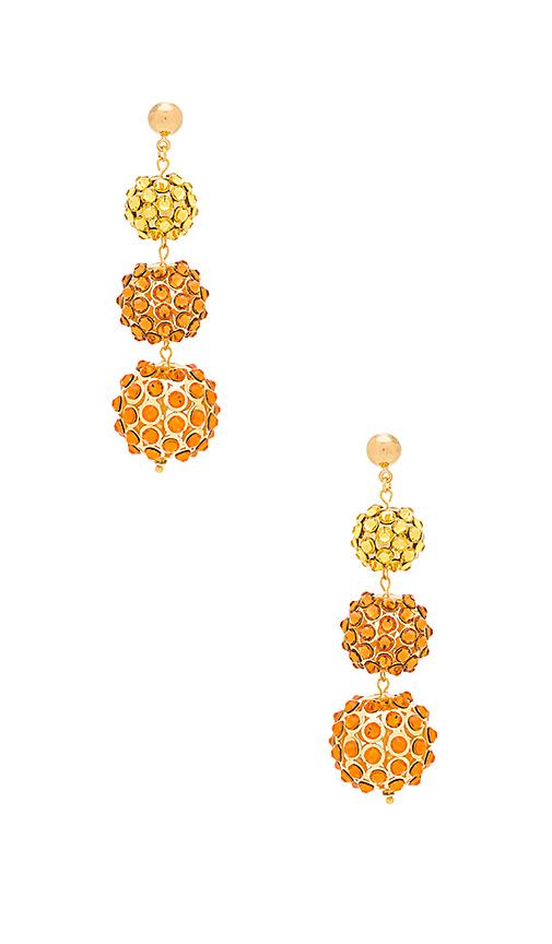 Frasier Sterling Sunset Earrings in Metallic Gold