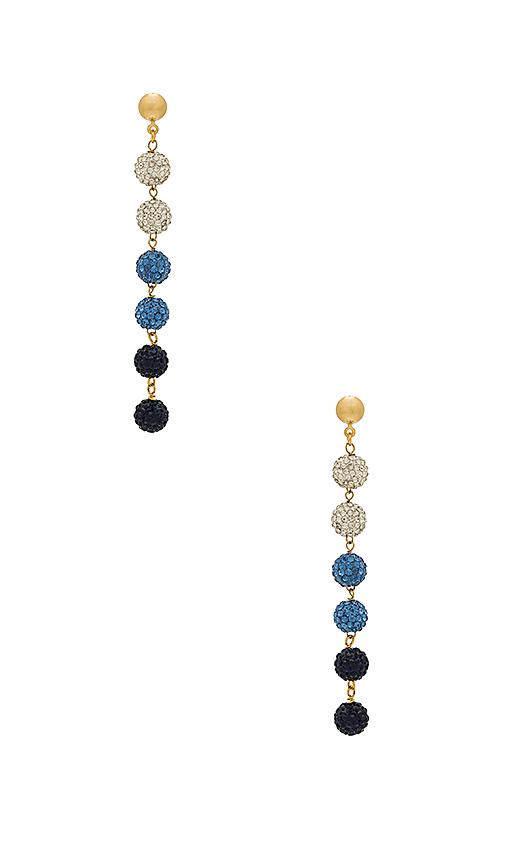 Frasier Sterling Sunrise Earrings in Blue