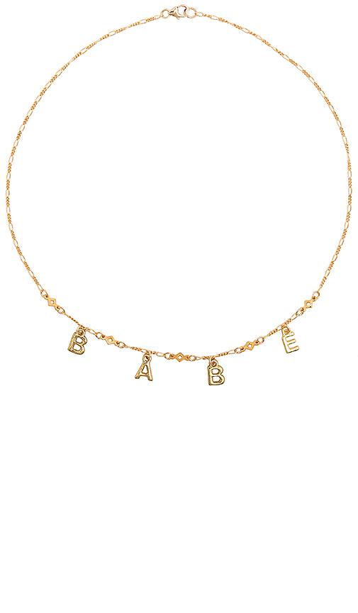 Frasier Sterling Star Crossed Lover Babe Necklace in Metallic Gold