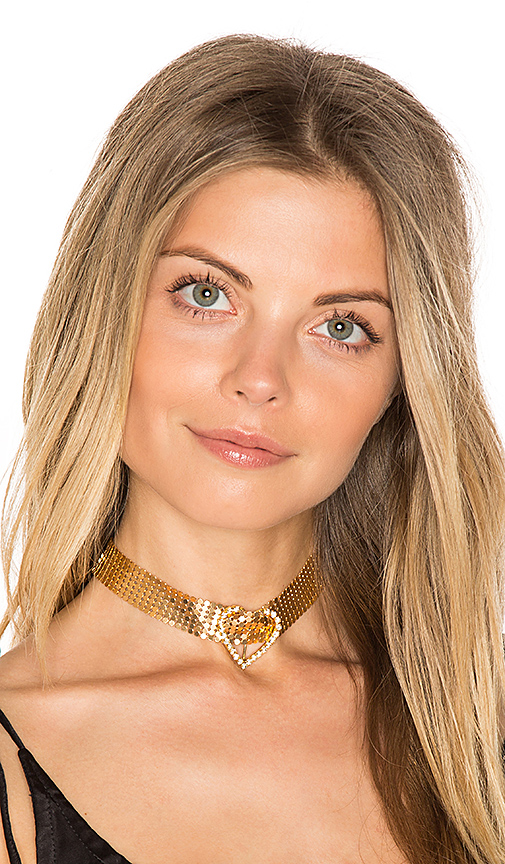 Frasier Sterling Im Yours Choker in Metallic Gold