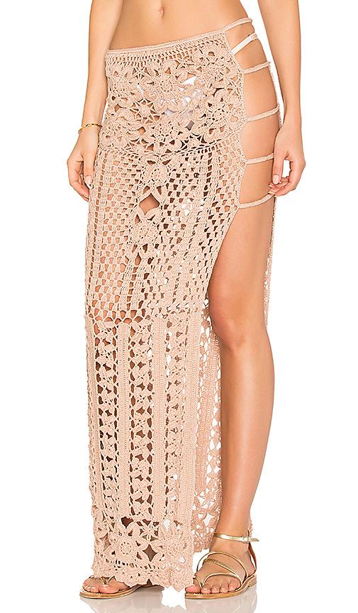 Frankies Bikinis Lauren Maxi Skirt in Taupe