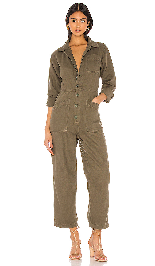 Free People Tops FREE PEOPLE GIA COVERALL IN ARMY.