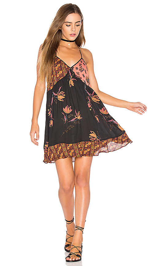 Free People All Mixed Up Slip in Black