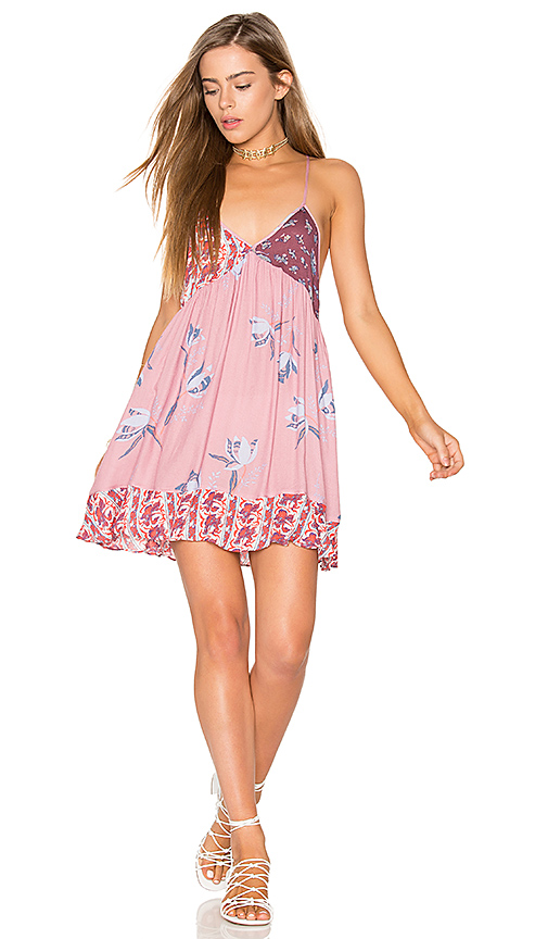 Free People All Mixed Up Slip in Pink