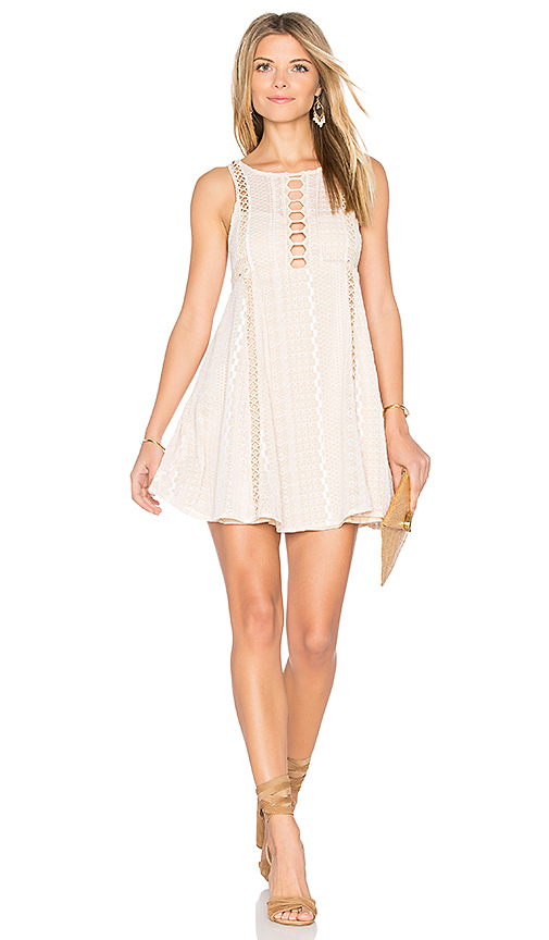 Free People Wherever You Go Mini Dress in White