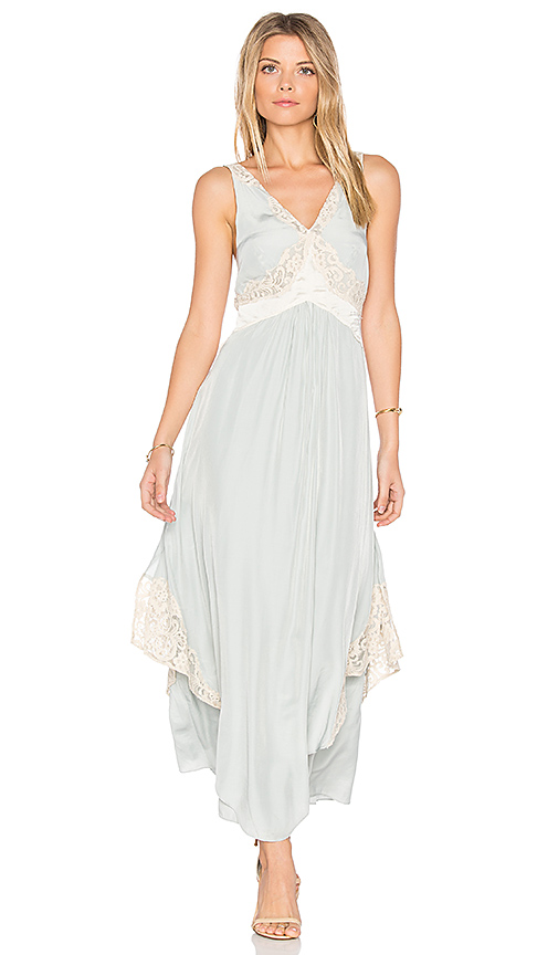 Free People Baby Love Maxi Dress in Blue