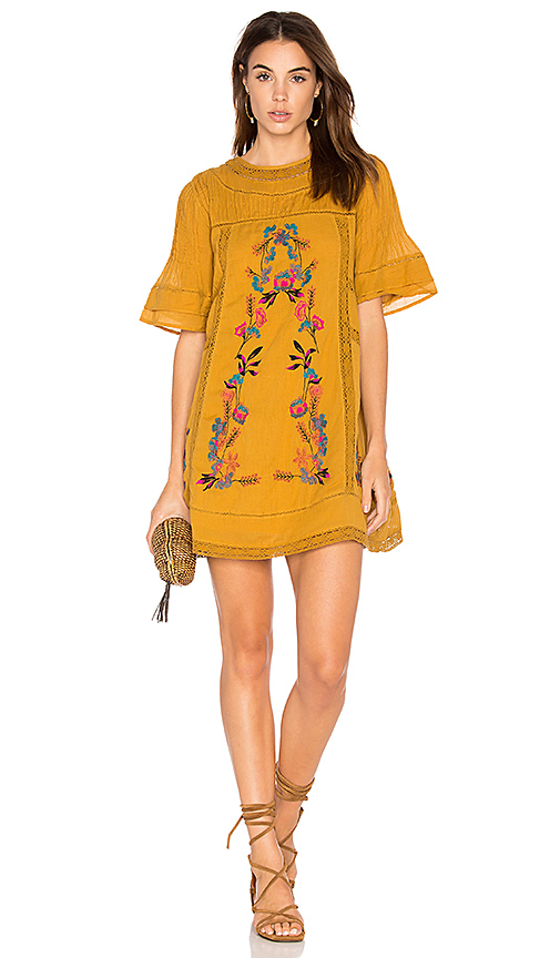 Free People Perfectly Victorian Dress in Yellow. - size L (also in M,S,XS)