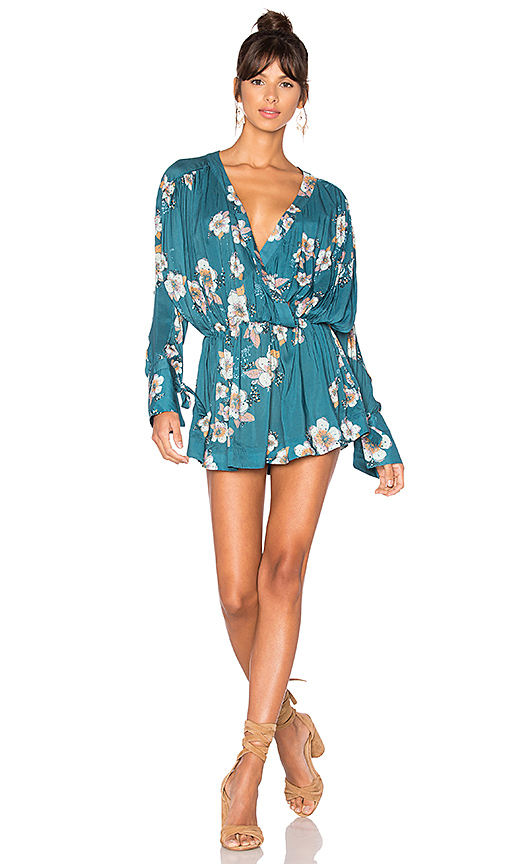 Free People Tuscan Dreams Printed Tunic in Blue. - size L (also in M,S,XS)