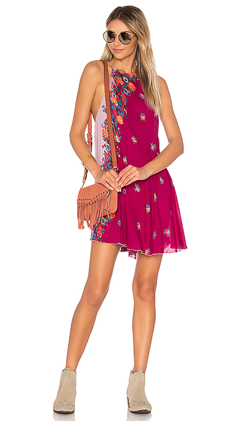 Free People Its A Cinch Printed Slip in Red