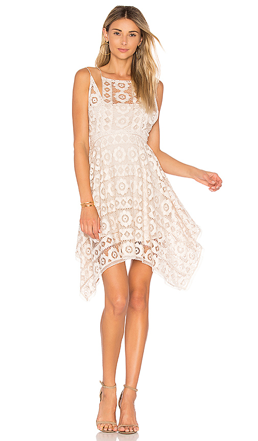Free People Just Like Honey Lace Dress in White