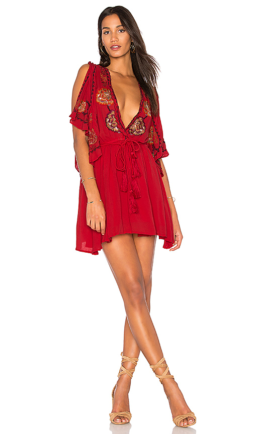 Free People Cora Dress in Red