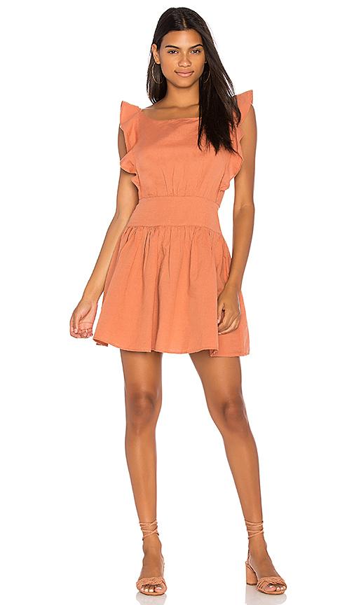 Free People Erin Mini Dress in Peach