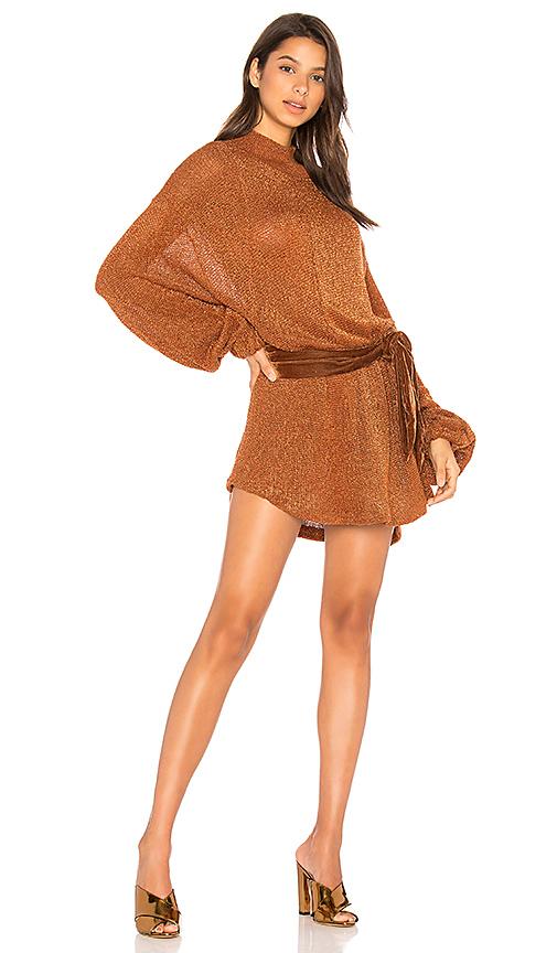 Free People Fete Sweater Dress in Burnt Orange