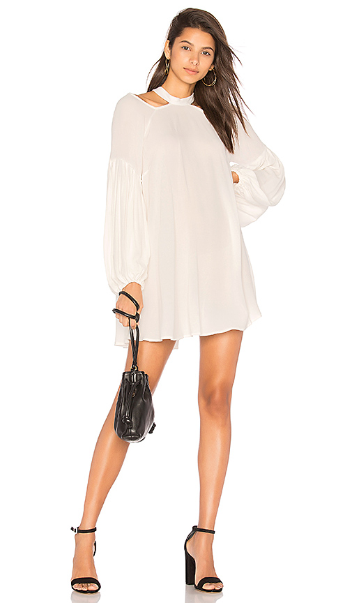 Free People Drift Away Solid Dress in Ivory