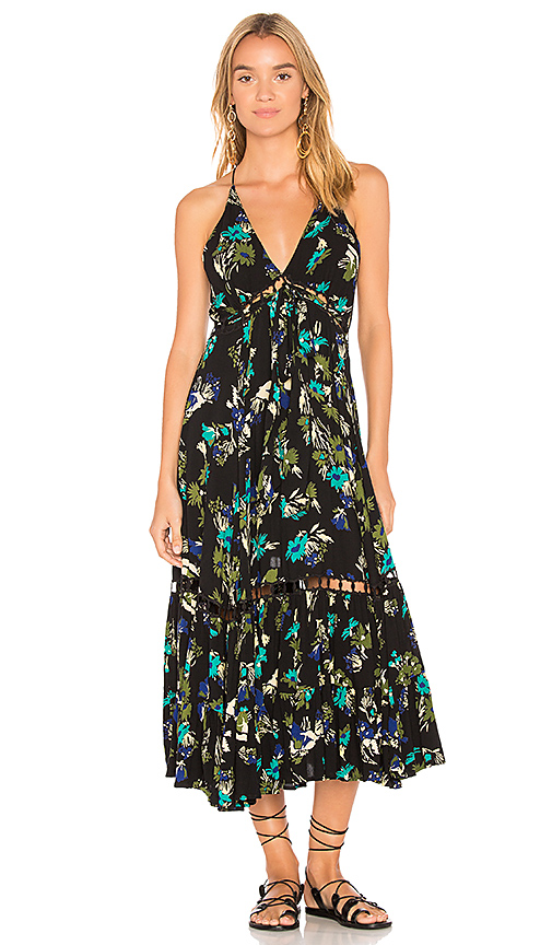 Free People Page of Gold Maxi Dress in Black