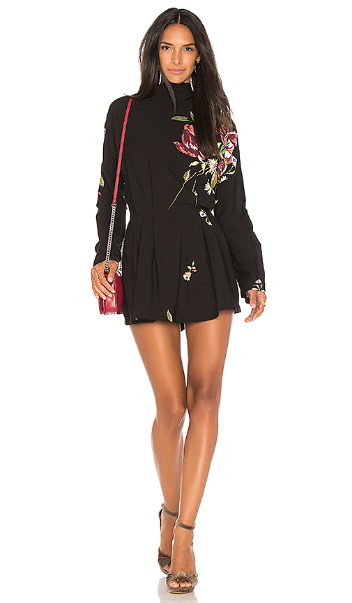 Free People Gemma Tunic Dress in Black